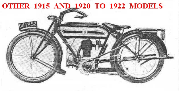 Other 1915 and 1920 to 1922 Models